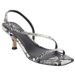 New Marc Fisher Gove Snake Strappy Kitten Heels
